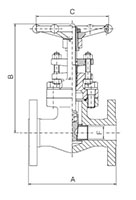 Integral Flanged Valves Gate Type-Bolted Bonnet Full_Standard Port - Dimensions